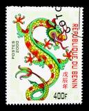 Dragón, Año Nuevo chino - año del serie del dragón, circa 2000 Imagen de archivo libre de regalías