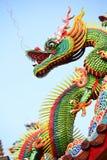 Dragón asiático del templo Imagen de archivo