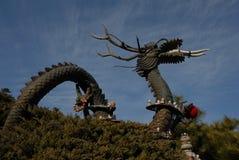 Dragón asiático del templo Fotografía de archivo