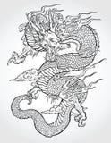 Dragón asiático tradicional ilustración del vector