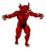 Dragón asustadizo del rojo Galés Fotografía de archivo