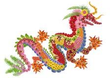 Dragón chino ardiente rojo Fotos de archivo