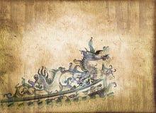 Dragón chino azul Imágenes de archivo libres de regalías