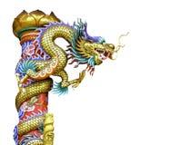 Dragón chino de oro Fotos de archivo