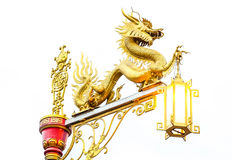 Dragón chino de oro Imagen de archivo libre de regalías