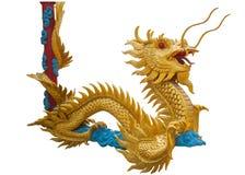 Dragón chino de oro gigante Imagen de archivo libre de regalías