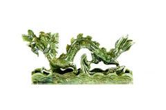 Dragón chino del jade Foto de archivo