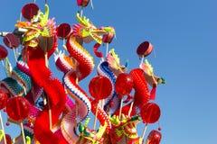 Dragón chino del papel del arte Fotografía de archivo