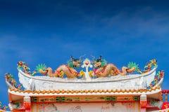 Dragón chino doble Imagenes de archivo
