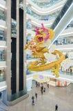 Dragón chino en alameda de compras Imagen de archivo