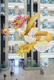 Dragón chino en alameda de compras Foto de archivo libre de regalías