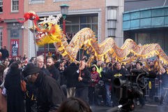 Dragón chino en el festival Fotografía de archivo
