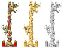Dragón chino en el ploe Fotografía de archivo libre de regalías