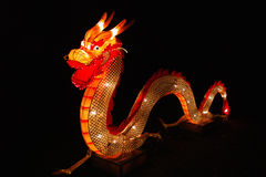 Dragón chino en festival de linterna Imagen de archivo libre de regalías