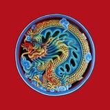 Dragón chino en fondo del aislante Fotografía de archivo