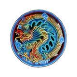 Dragón chino en fondo del aislante Imagenes de archivo