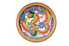 Dragón chino en ventana fotografía de archivo libre de regalías