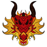 Dragón chino, historieta del ejemplo del vector Fotos de archivo