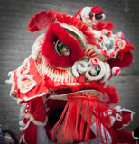 Dragón chino rojo del Año Nuevo Imagen de archivo
