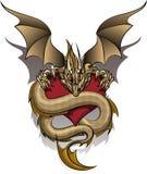 Dragón codicioso Imagen de archivo libre de regalías