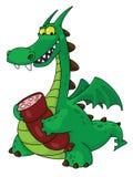 Dragón con la salchicha Imagen de archivo libre de regalías