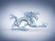 Dragón de agua stock de ilustración