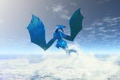 Dragón de agua elemental ilustración del vector
