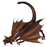 Dragón de bronce ilustración del vector