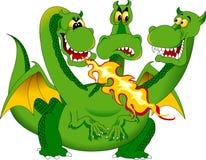 dragón de Fuego-respiración Imagenes de archivo