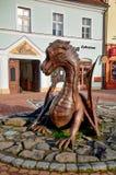 Dragón de Jicin cerca del cuadrado Fotografía de archivo libre de regalías