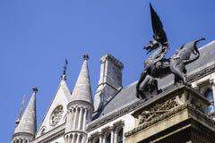 Dragón de la barra del templo en Londres Fotografía de archivo libre de regalías