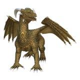 dragón de la fantasía de la representación 3D en blanco Imagen de archivo