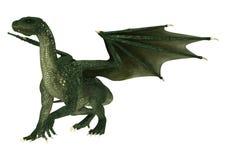 Dragón de la fantasía en blanco Fotografía de archivo