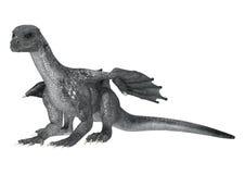 Dragón de la fantasía en blanco Foto de archivo