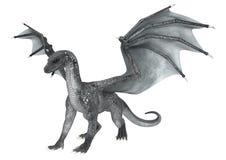 Dragón de la fantasía en blanco Fotos de archivo