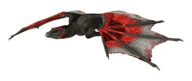 dragón de la fantasía de la representación 3D en blanco Fotos de archivo