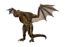 dragón de la fantasía de la representación 3D en blanco Fotografía de archivo
