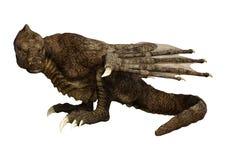 dragón de la fantasía de la representación 3D en blanco Foto de archivo libre de regalías