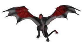 dragón de la fantasía de la representación 3D en blanco Fotografía de archivo libre de regalías
