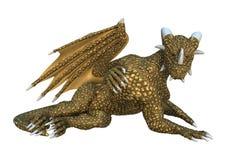 dragón de la fantasía de la representación 3D en blanco Imagenes de archivo