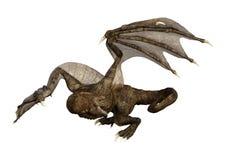 dragón de la fantasía de la representación 3D en blanco Fotos de archivo libres de regalías