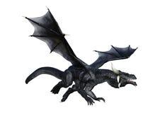 dragón de la fantasía de la representación 3D en blanco Imagen de archivo libre de regalías