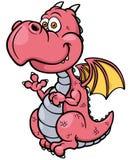 Dragón de la historieta ilustración del vector