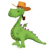 dragón de la historieta 3d que fuma el tubo Fotografía de archivo libre de regalías