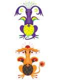 Dragón de la luna y dragón del sol Fotos de archivo libres de regalías