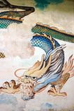 Dragón de la pared del templo fotografía de archivo