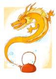 Dragón de la tetera Fotos de archivo
