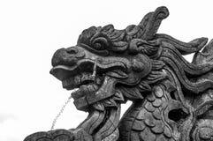 Dragón de piedra en la ciudad Prohibida, tonalidad, Vietnam fotografía de archivo libre de regalías