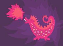 Dragón de respiración del fuego stock de ilustración
