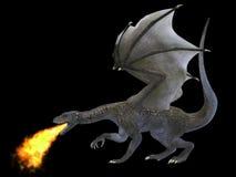 Dragón de respiración del fuego Imagen de archivo libre de regalías